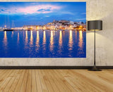 WM115 - IBIZA ISLAND, NIGHT VIEW OF EIVISSA TOWN PHOTO MURAL - Art Fever - Art Fever