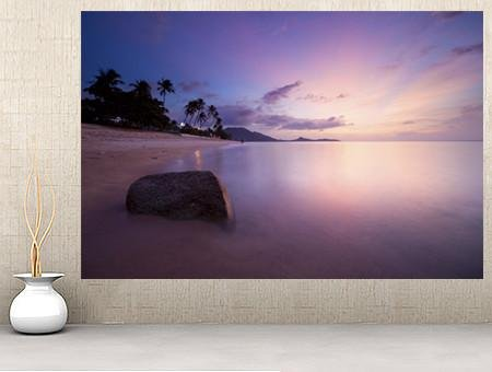 WM128 - PURPLE SUNRISE AT LAMAI BEACH WALL MURAL - Art Fever - Art Fever