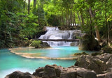 WM137 - WATERFALL IN THE TROPICAL FOREST IN THAILAND WALL MURAL - Art Fever - Art Fever