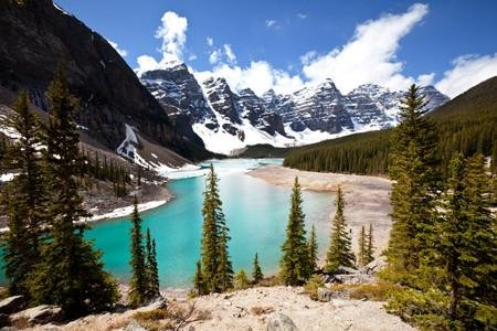 WM140 - CANADA'S EMERALD LAKE YOHO NATIONAL PARK WALL MURAL - Art Fever - Art Fever