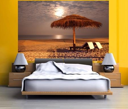 WM141 - THE SUNSET BEACH WALL MURAL - Art Fever - Art Fever