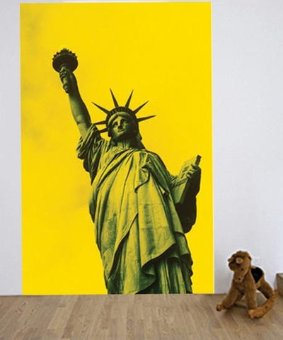 WM1650 - STATUE OF LIBERTY, NEW YORK CITY WALL MURAL - Art Fever - Art Fever