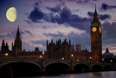 WM199 - HOUSES OF PARLIAMENT AT NIGHT WALL MURAL - Art Fever - Art Fever