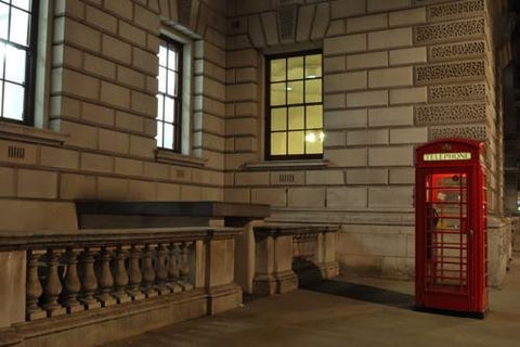 WM200 - ICONIC LONDON PHONE BOX WALL MURAL - Art Fever - Art Fever