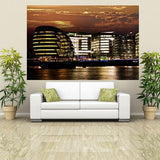 WM201 - LONDON CITY HALL AT NIGHT PHOTO WALL MURAL - Art Fever - Art Fever