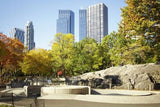 WM206 - CENTRAL PARK AND SKYSCRAPERS WALL MURAL - Art Fever - Art Fever