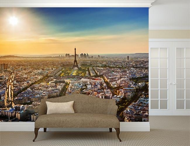 WM266 - Paris skyline photo wall mural - Art Fever - Art Fever