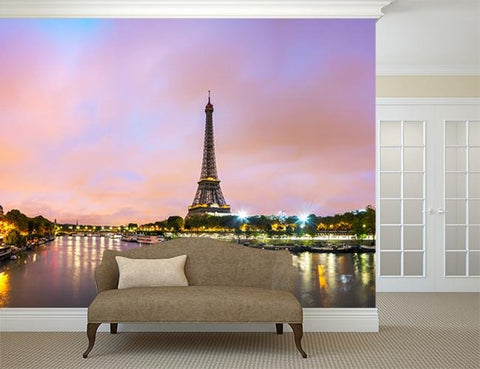 WM267 - The Eiffel tower photo wall mural - Art Fever - Art Fever