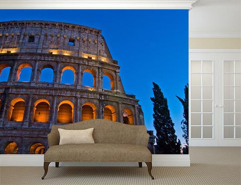 WM268 - The Colosseum at night Photo Wall Mural - Art Fever - Art Fever