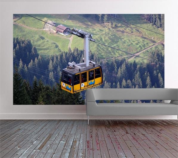 wm434 - Cable car over Germany photo Wall Mural - Art Fever - Art Fever