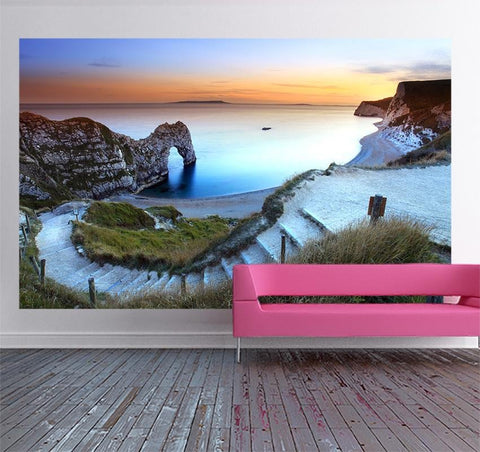 WM442 - Sunset at Durdle Door Self Adhesive Wall Mural - Art Fever - Art Fever