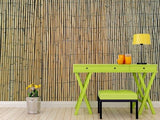 wm527 - Bamboo Effect Faux Wall Self Adhesive Wallpaper - Photo wall mural - Art Fever - Art Fever