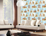 WM544 - Removable Wallpaper Old City Buildings Repeat Style - Art Fever - Art Fever