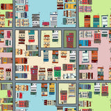WM551 - Self Adhesive Wallpaper Cartoon Street Map Pattern - Art Fever - Art Fever