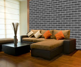 WM557 - Dark Brick Wall Effect | Self Adhesive Wallpaper Rolls - Art Fever - Art Fever