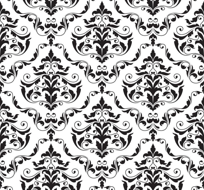 WM579 - Retro damask 2 pattern printed Wallpaper | Self Adhesive Wallpaper Rolls - Art Fever - Art Fever