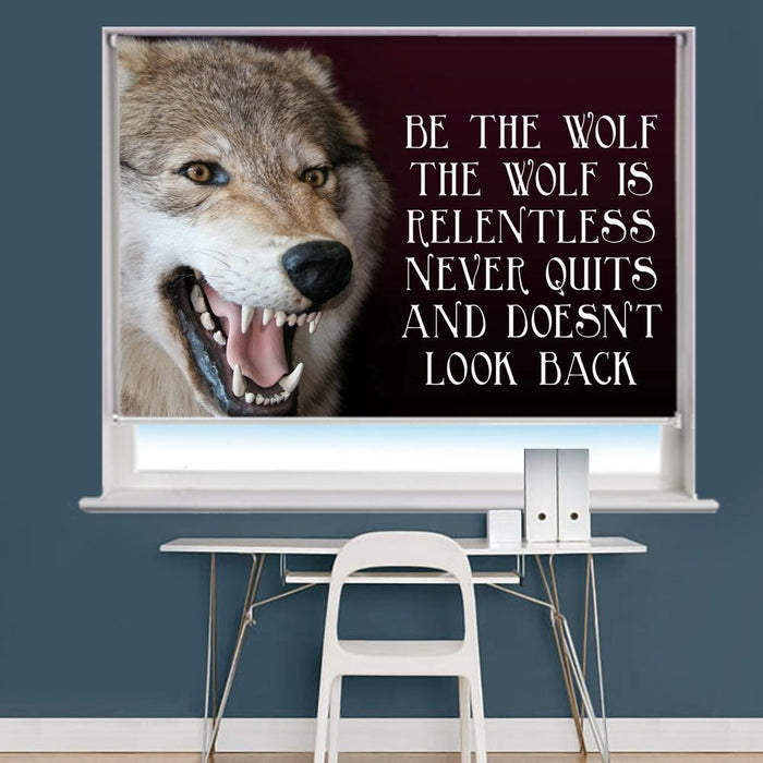 Wolf Quote Image Printed Roller Blind - RB959 - Art Fever - Art Fever