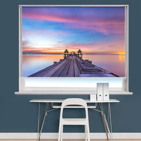 Wooden Bridge Sunset Image Printed Roller Blind - RB974 - Art Fever - Art Fever