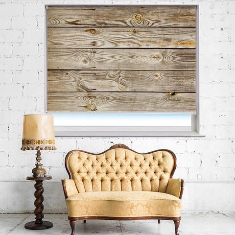 Wooden Plank Effect Printed Photo Picture Roller Blind - RB392 - Art Fever - Art Fever
