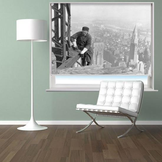 Worker on the skyscraper in New York Printed Picture Photo Roller Blind - RB302 - Art Fever - Art Fever