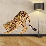 WSD148 - Large cheetah removable wall sticker. animal photo wall decal - Art Fever - Art Fever