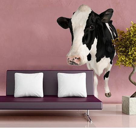 WSD157 - Holstein Cow. Large animal wall sticker - Art Fever - Art Fever