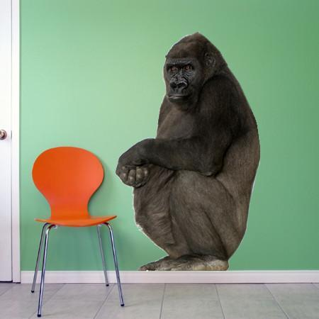 WSD200 - large Silverback Gorilla removable photo wall sticker - Art Fever - Art Fever