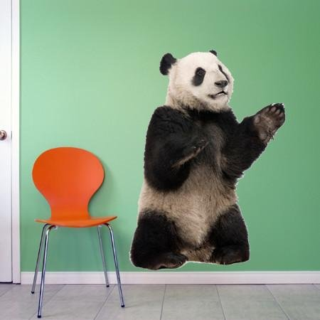 WSD205 - Giant Panda standing photo realistic wall sticker - Art Fever - Art Fever