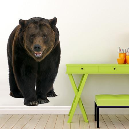 WSD206 - Siberian Brown Bear large animal wall sticker - Art Fever - Art Fever