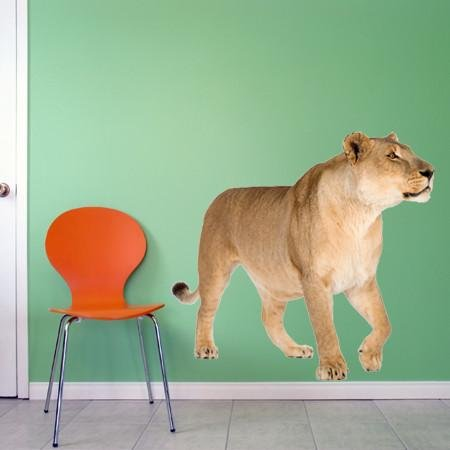 WSD211 - The Lioness photo realistic animal wall sticker - Art Fever - Art Fever