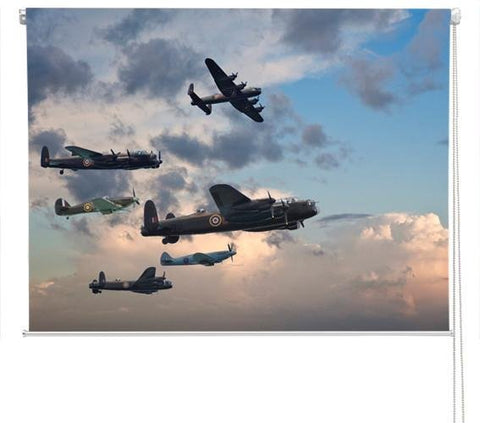 WW2 fighter planes Printed Picture Photo Roller Blind - RB236 - Art Fever - Art Fever