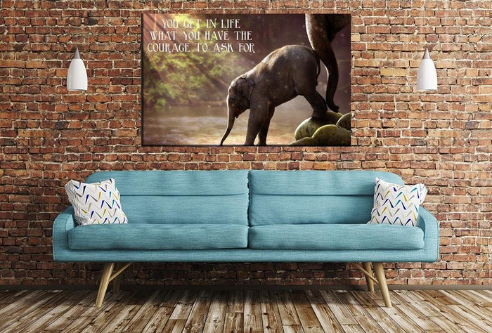 You Get In Life Quote Image Printed Onto A Single Panel Canvas - SPC02 - Art Fever - Art Fever