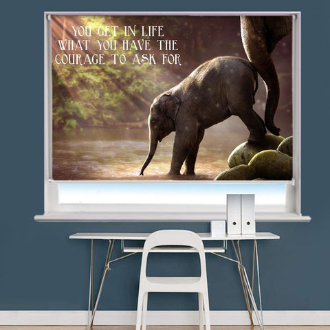 You Get In Life Quote Printed Roller Blind - RB806 - Art Fever - Art Fever
