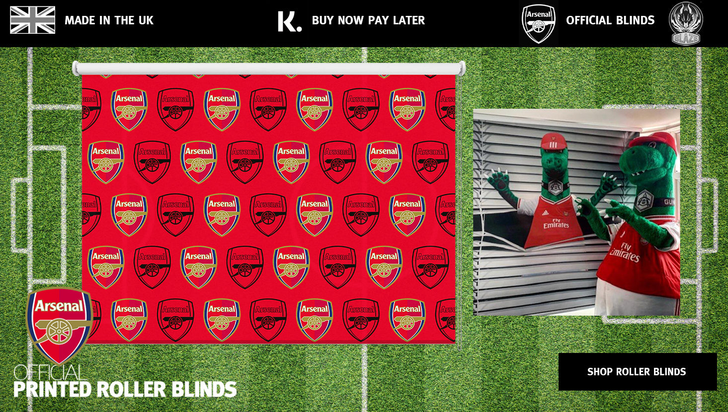 roller blinds and framed prints