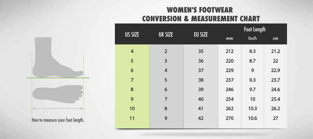 Goto Women's Shoes Size Guide