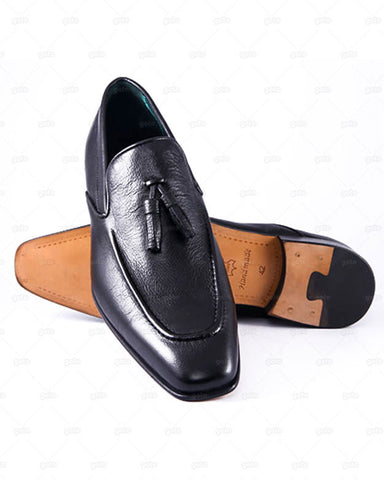 Ayakabi - Loafer with Tassels Kempton Shoes - Black