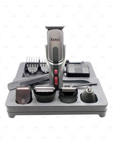 Kemei - 8 in 1 Grooming Kit Shaver and Trimmer for Men KM 680A - Grey