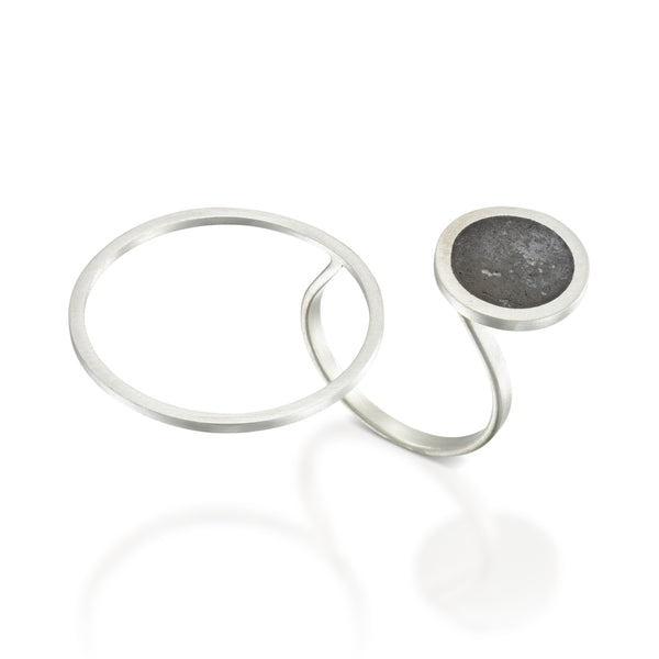 Asymmetrical Concrete Ring, by BAARA Jewelry, Statement Ring, Geometric Jewelry, Concrete Jewelry