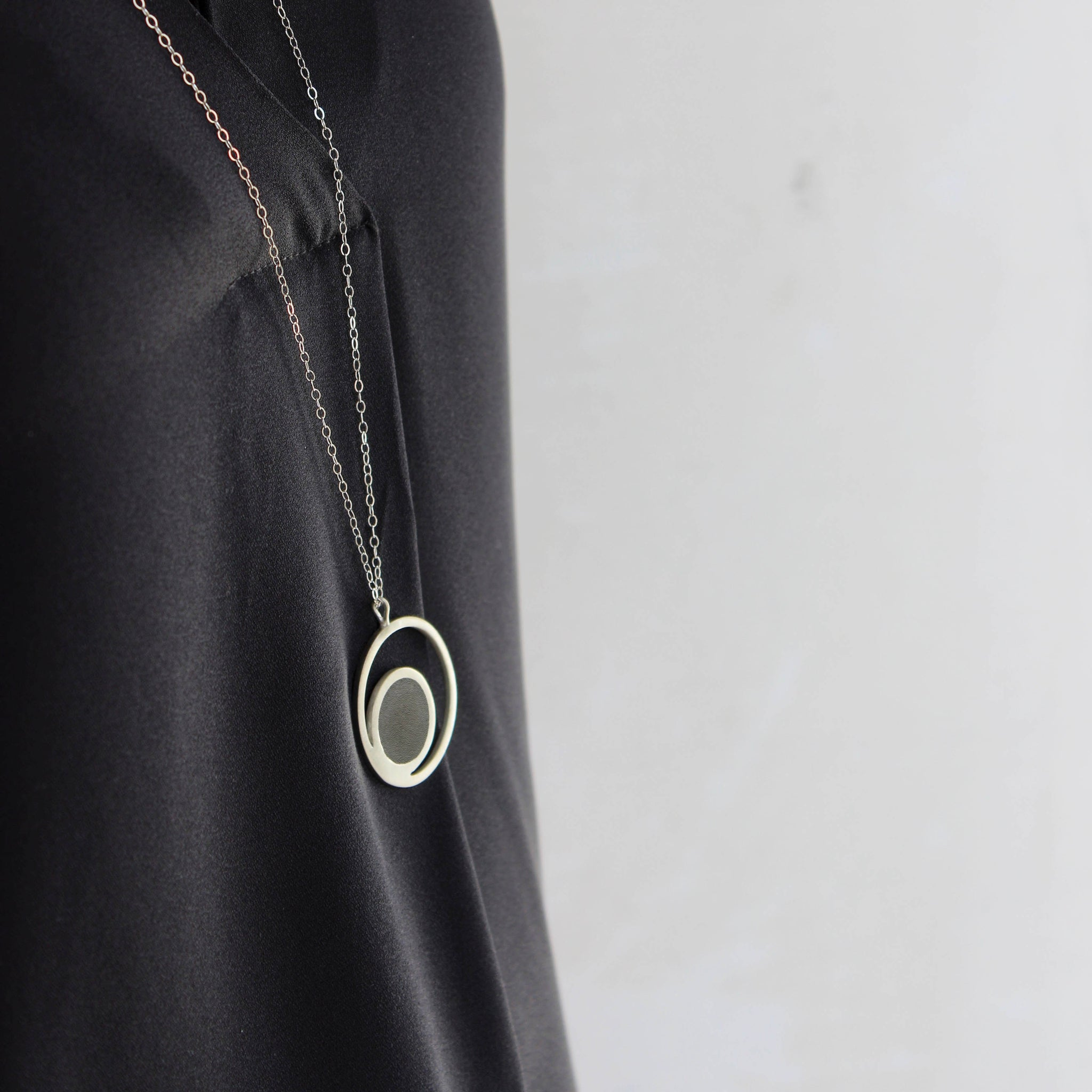 Orbit Concrete Necklace