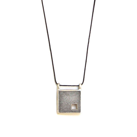 Unisex Square Concrete Necklace