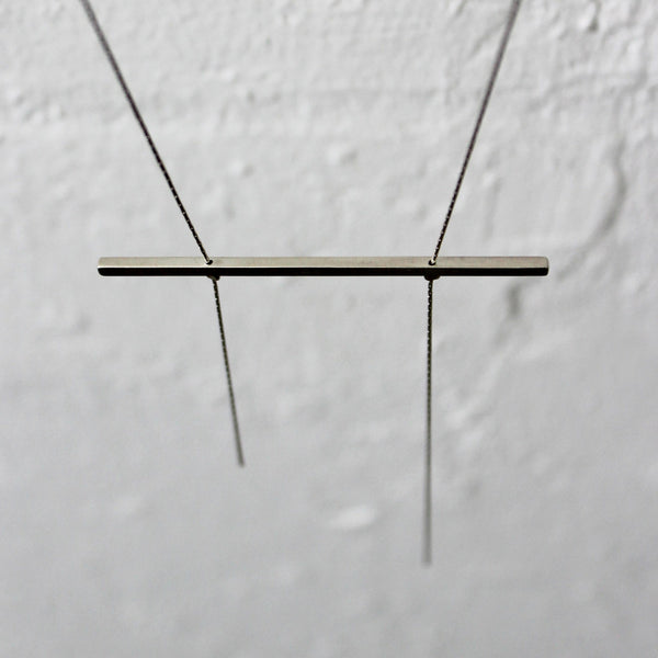 Minimal Bar Necklace, by BAARA Jewelry. Minimal Long Necklace, Simple Statement Necklace
