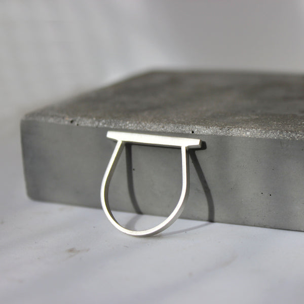 Minimal bar ring, by BAARA Jewelry. Stackable minimal ring, line ring, bar jewelry, handmade jewelry, minimal jewelry