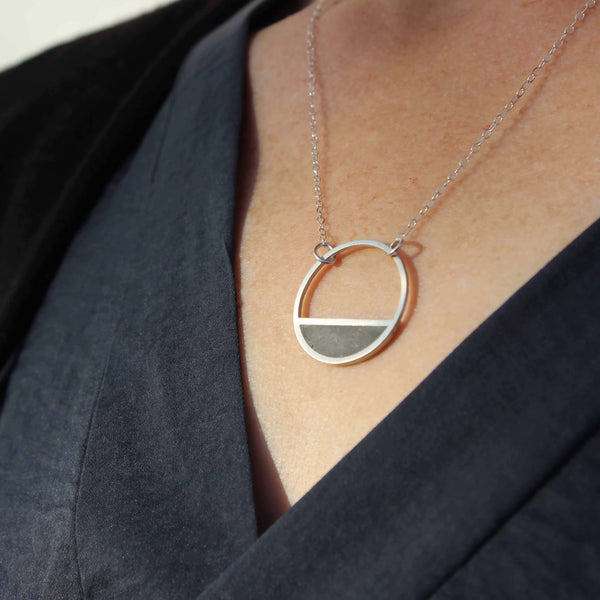 Small Balance Concrete Necklace