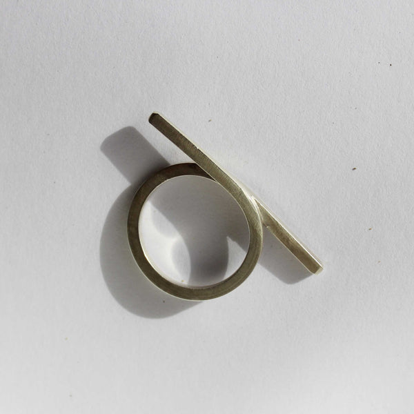Cross Line Ring
