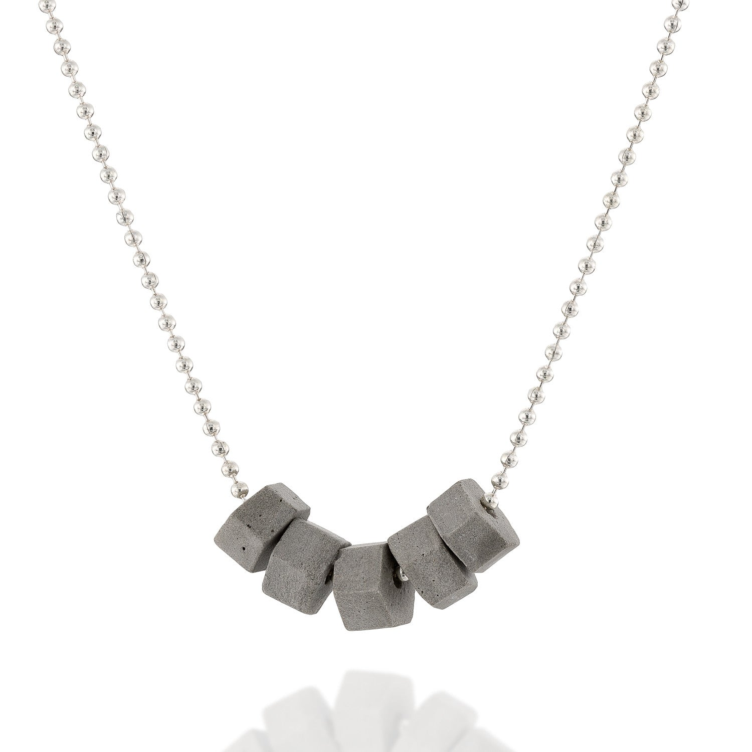 Hexagon Concrete Necklace by Baara Jewelry, Wabi-Sabi, Organic Materials, Unique Jewelry, Delicate Contemporary Necklace