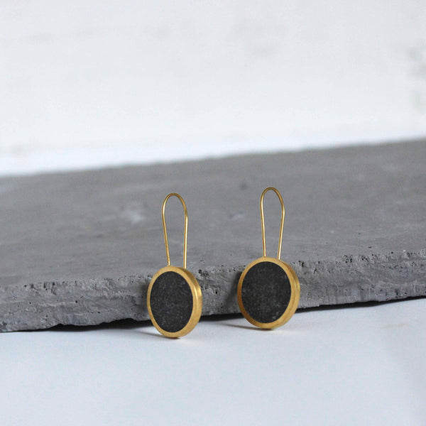 Minimalist Short Concrete Earrings
