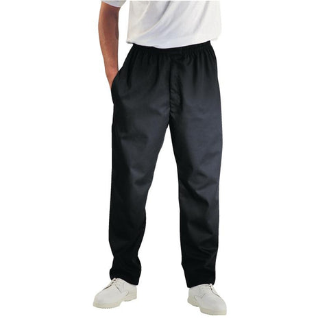 Chef Works Unisex Easyfit Teflon Coated Chefs Trousers Black XS