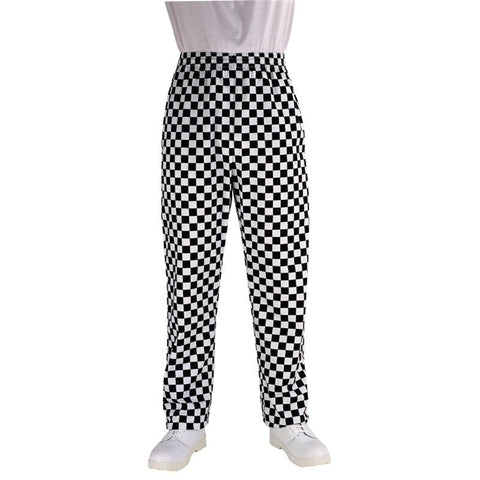 Chef Works Unisex Easyfit Chefs Trousers Big Black Check L