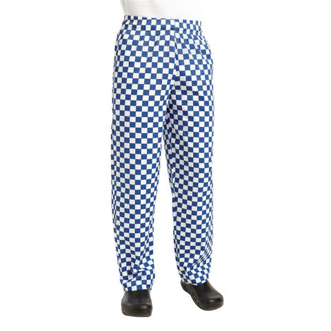 Chef Works Unisex Easyfit Chefs Trousers Big Blue Check XS