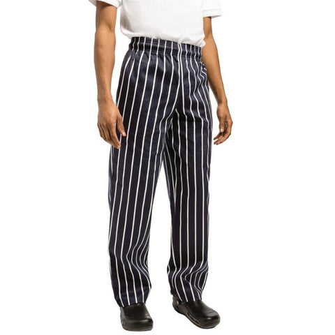 Chef Works Unisex Easyfit Chefs Trousers Butchers Stripe 2XL